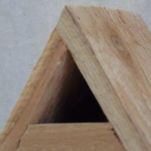 Cedar Triangle Birdhouse, Rustic Birdhouse, Cedar Bluebird House, Rustic Cedar Birdhouse