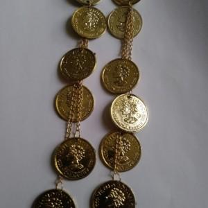 Long coin earrings