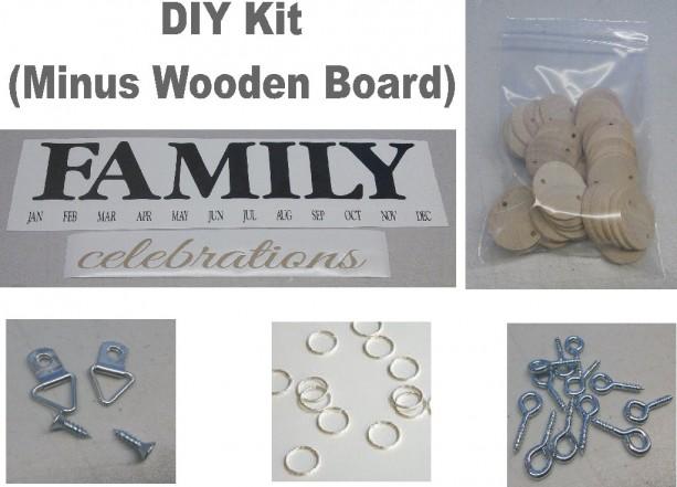 Family Birthday Board Kit, DIY Kit, DIY Crafts, Birthday Board Kit, Mother's Day Gifts, Crafts, Family Birthdays, Mothers Day, No Board