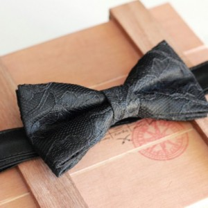 Black Lace Bow Tie - Wedding Bow Tie Groom Bow Tie Bridal bow Tie Bridal party Prom Bow Tie Groomsmen bow tie Baby Bow Tie Black Bow Tie