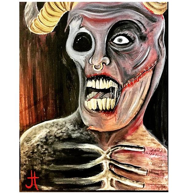"""""""Succubus"""" Original Oil Painting"""