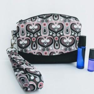 Essential oil wristlet , Travel essential oil, Roller ball carrier, Roller ball wallet, Essential oil purse, Essential oil wallet