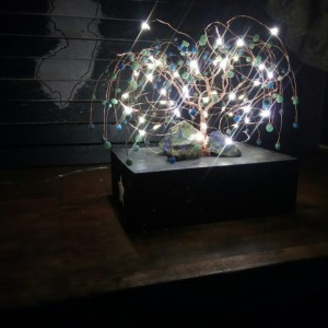 Copper & Azurite LED Weeping Willow