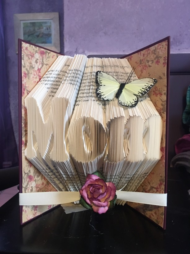 Folded Book Art - Mom