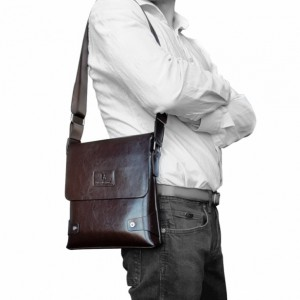 UD Mens Cross Body Sling Premium Leather Bag Male Leather Messenger Bags