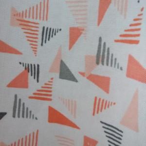 Orange Triangles Peasant Dress