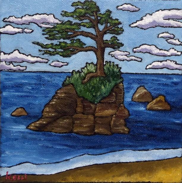 """Square Landscape #23"" original painting"