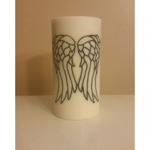 "3x6 ""Angel Wings"" Pillar Candle"