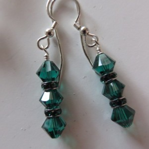 Emerald Isle Earrings in silver