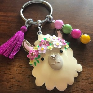 Llama Keychain, Bohemian Keychain, Key Ring, Bohemian, Llama Keyring, Car Accessories, Gift For Her, Ready To Ship, Bag Clip, Rearview