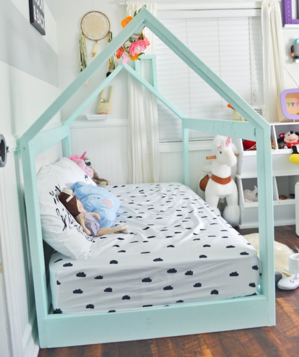 Made in US Full Size House Bed Frame