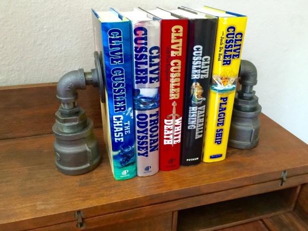 Industrial Black Pipe Bookends, Urban, Loft, Steampunk Style, 1 Pair (2 Bookends) Hand Made In USA, SALE PRICED!!