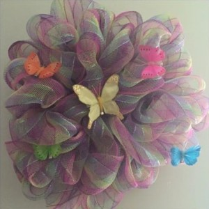Butterfly Deco Mesh Wreath
