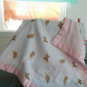 "Baby gift...baby girl blanket-toddler blanket- tag along blanket-18""×18"""
