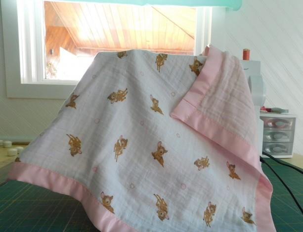 "Baby gift...baby girl blanket-toddler blanket- tag along blanket-18""×18"""
