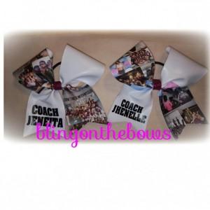 Custom photo cheer bow