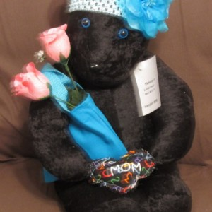 Mother Teddy Bear, Black Velour