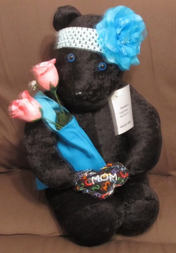 Mother Teddy Bear, Black Velour