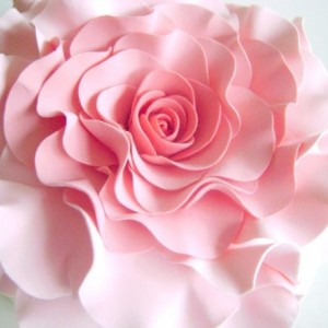 Coral Pink Rose Cake Topper Wedding Cake Topper Flower Cake Design Blush Rose Cake Decor Cake Topper Flower Clay Flower Cake Topper