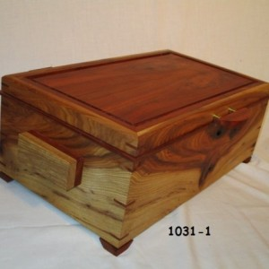 Hickory-Cherry Wooden Box