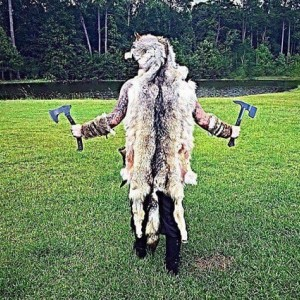Wolf headdress mounted head w teeth feet and claws Ulfhednar berserker MADE TO ORDER