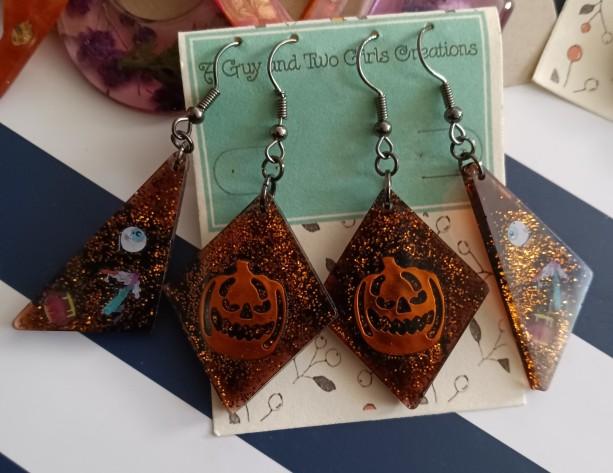 Fall Halloween earrings