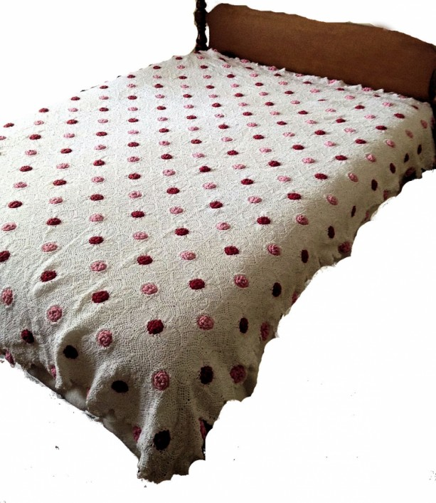 Handmade Crocheted Bedspread White