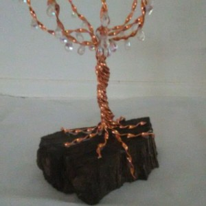 Twisted Cooper wire tree sculpture
