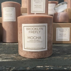 Chocolate Mint Candle. Scented Soy. 13 Ounce Reusable Glass Jar.