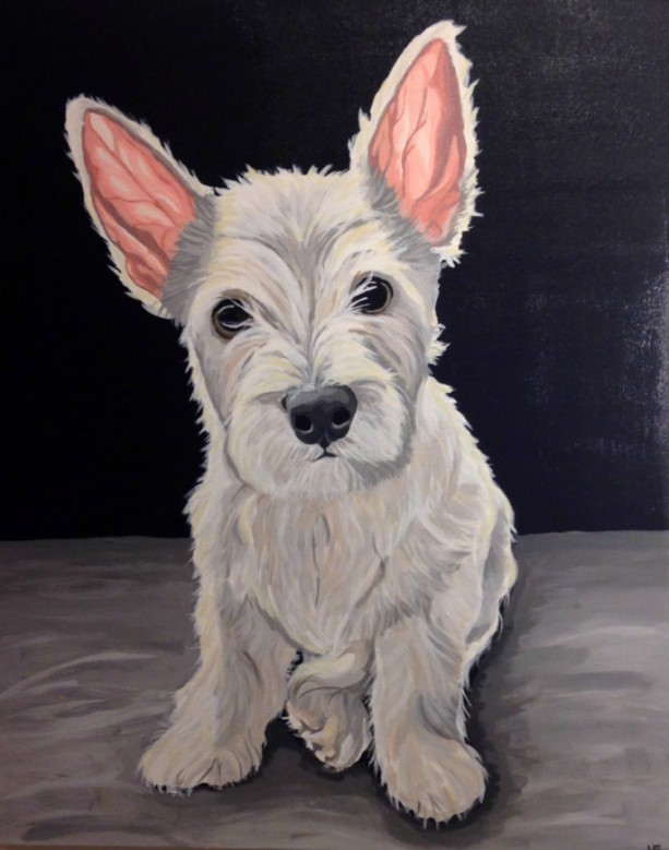 "Little West - Custom Dog Portrait 24"" x 30"""