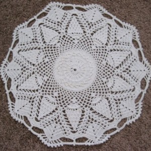 Handmade White Pineapple Passion Doily Table Decor Home Decor