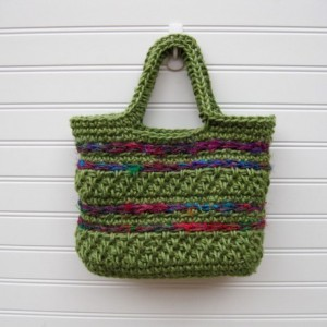 Olive Green Jute and Sari Silk Purse/Handbag - handmade in the USA by Twisted Blossom Design