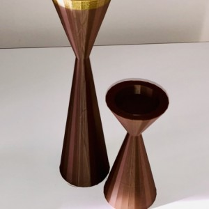 2 piece Tea Light Candle Holder set