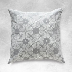 "18"" Batik Pillow Cover, Grey Pillows, BOHO Pillows, Grey Pillow Cover, Sofa Pillow, Batik Decorative Pillow, BOHO Pillow Case, Asian Pillow"