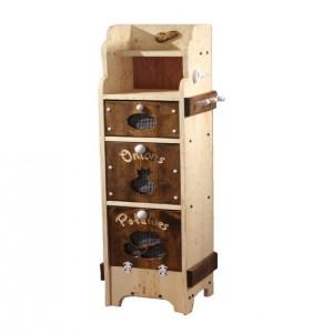 Kitchen Storage Potato Bin and Shelf, Solid Wood