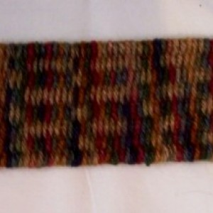 Multicolor Hand Woven Cuff Bracelet In Autumn Colors