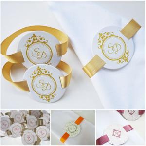 Wedding Napkins rings, personalized napkins rings, personalized napkin ring, paper napkin ring - Set of 10