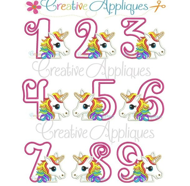 Personalized Embroidery Rainbow Unicorn Birthday Shirt Or Bodysuit Applique Party