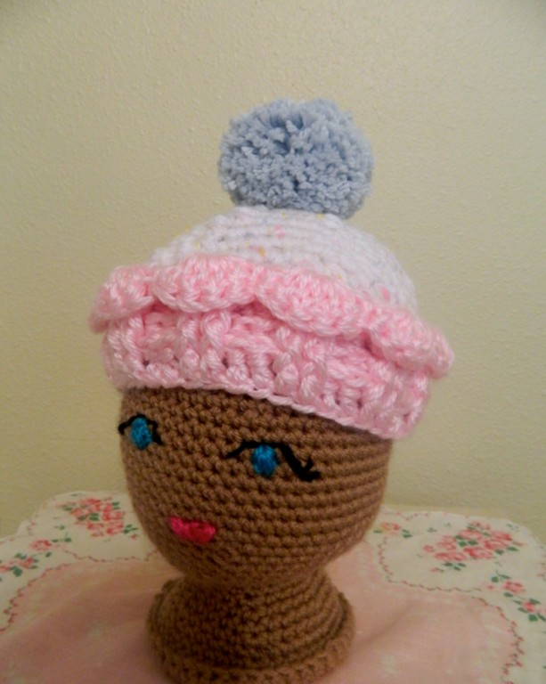 Crocheted Baby Pink Cupcake Hat