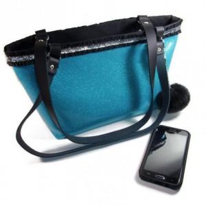 Tote Bag, Tote Bag for Women, Blue Tote Bag, Bags and Purses, Bags for Women, Shoulder Bag, Vinyl Bag, Handmade Tote, Totebag