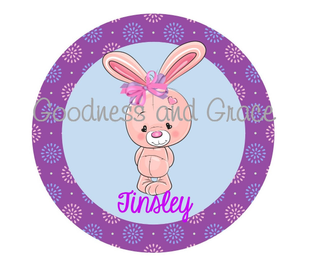 DIY Easter Iron On in Purple - Personalized