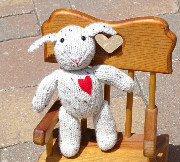Baby Toy, Hand Knitted Lamb, Lamb with Heart, Stuffed Lamb ...