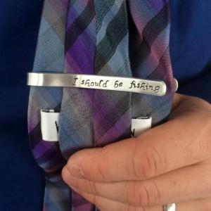 Personalized Hidden Message Tie Clip