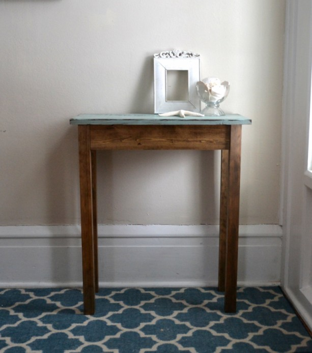 The Jane - Blue Pine Side Table