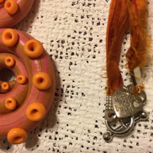 Hand Sculpted Polymer Clay Tentacle Necklace