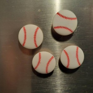 Magnets, 4 Strong Refrigerator Magnets, Cubicle Decor, Locker Magnets, Office Supply,Baseball,Sports,Softball