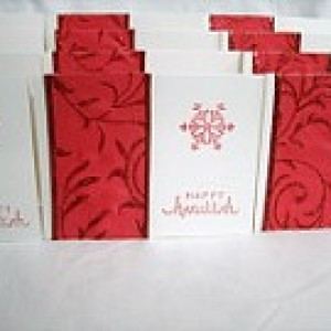 "1/2 PRICE CARD SALE!! Set of 12 ""Happy Hanukkah"" cards #4415"