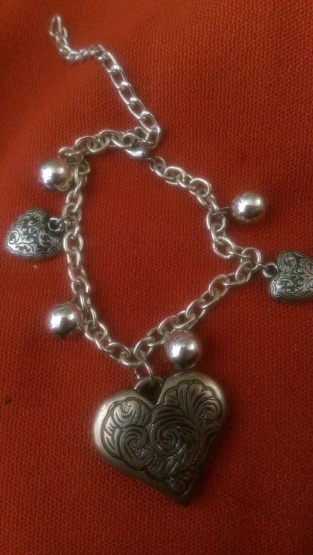 Heart Silver Charm bracelet