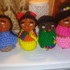 Beautiful crocheted dolls