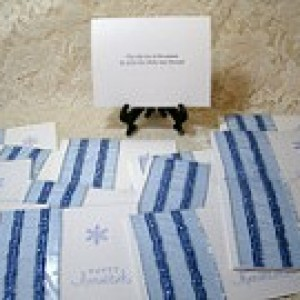 "1/2 PRICE CARD SALE!! Set of 26 ""Happy Hanukkah"" cards #4440"